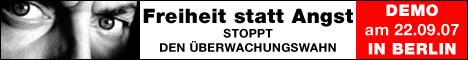 Demonstration gegen Sicherheits- und Überwachungswahn am 22. September in Berlin
