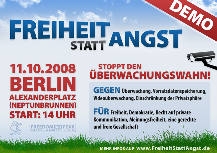 Freihei statt Angst Demo Berlin
