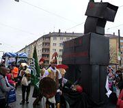 Bundestrojaner mit der JU (Junge Union) im Hintergrund.
